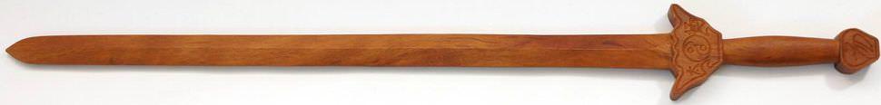 Tai Chi Holz Schwert kaufen Kung Fu aus einem Stück zum Training