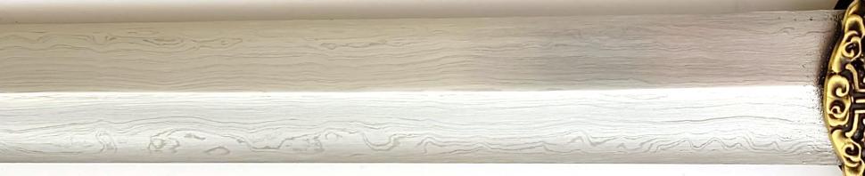 Tai Chi Schwert aus Damast kaufen- gefaltet Schmiede Longquan struktur