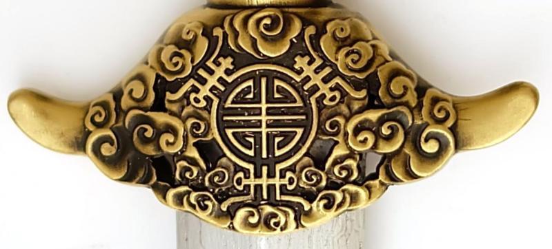 Tai Chi Schwert aus Damast kaufen- gefaltet Schmiede Longquan parierstange