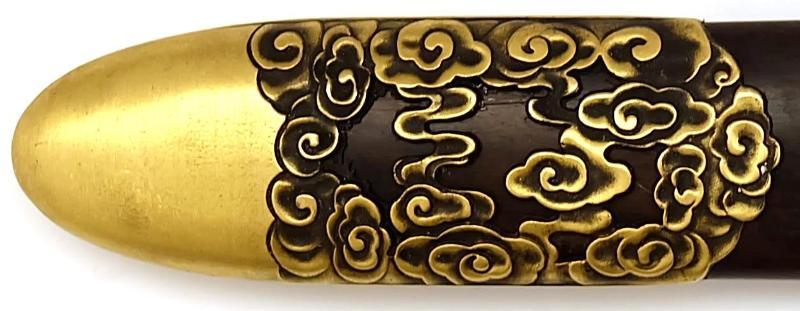 Tai Chi Schwert aus Damast kaufen- gefaltet Schmiede Longquan unten schutz