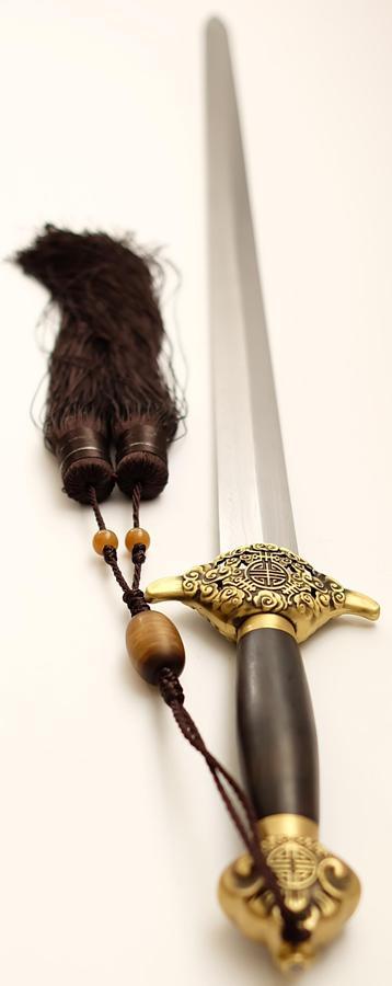 Tai Chi Schwert aus Damast kaufen- gefaltet Schmiede Longquan