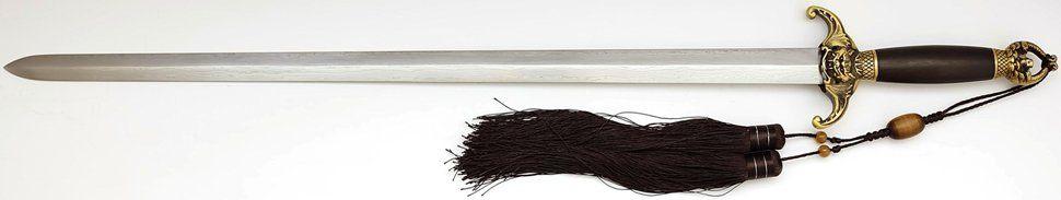 Tai Chi Übungsschwert aus Damast - gefaltet, Han-Zhao kaufen ohne scheide