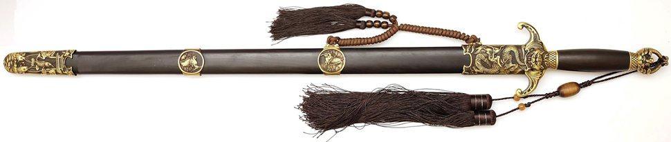 Tai Chi Übungsschwert aus Damast - gefaltet, Han-Zhao kaufen