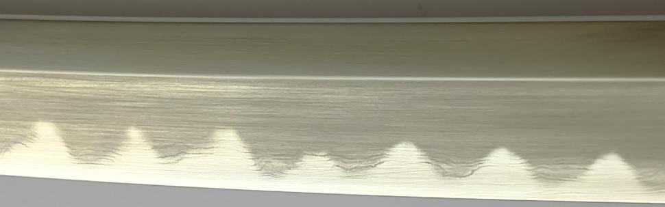 Wakizashi + Soshu Kitae + gefaltet Nakami Schwarz klinge detail