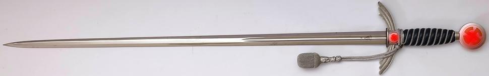 Wehrmacht Luftwaffe (WL) Schwert für Offiziere Original mit Unterschnallgurt Die Klinge