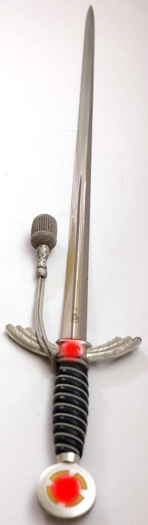 Wehrmacht Luftwaffe (WL) Schwert für Offiziere Original mit Unterschnallgurt Seitlich