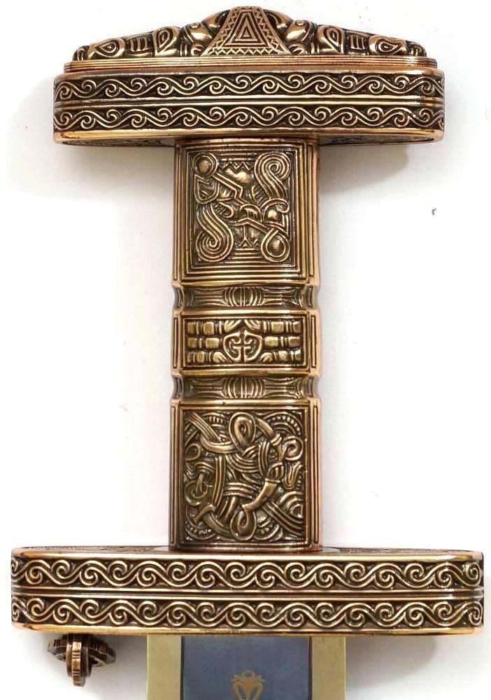 Wikinger Schwert kaufen Version mit bronze Griff von Marto Toledo